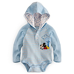 Mickey Mouse Hoodie Disney Cuddly Bodysuit for Baby