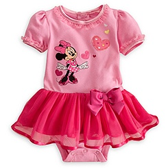 Minnie Mouse Disney Cuddly Bodysuit for Baby with Tutu