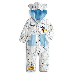 Mickey Mouse and Pluto Hoodie Coverall for Baby - Personalizable