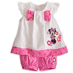Minnie Mouse Woven Top and Shorts Set for Baby