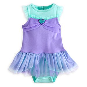 Ariel Disney Cuddly Bodysuit Costume for Baby