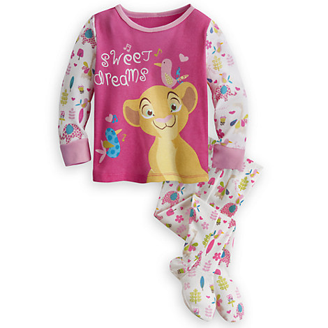 Nala footed pj pals for baby the lion king pj pals disney store