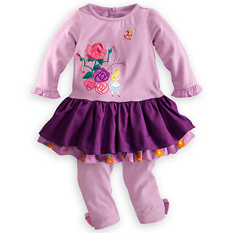 Alice in Wonderland Bubble Dress and Leggings Set for Baby