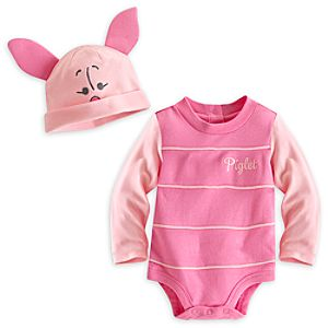 Piglet Bodysuit Costume Set for Baby - Personalizable
