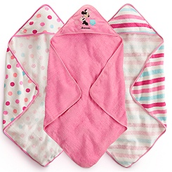 Minnie Mouse Hooded Towel Set for Baby - Personalizable