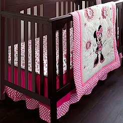 Minnie Mouse Crib Bedding Set - Personalizable
