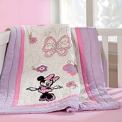 Minnie Mouse Quilt for Baby - Heirloom - Personalizable