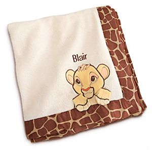 Simba Plush Blanket for Baby - Personalizable