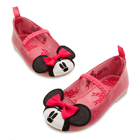 minnie mouse pink ballet flat shoes for baby shoes