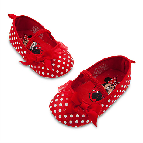 minnie mouse soft costume shoes or pink polka dot