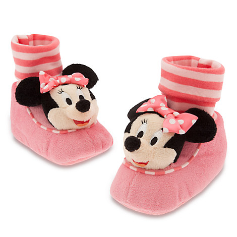 Minnie Mouse Slippers Plush Costume Baby Striped Infant 0