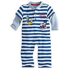 Mickey Mouse and Donald Duck Knit Romper for Baby