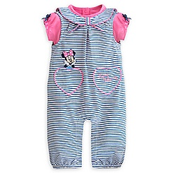 Minnie Mouse Woven Romper Set for Baby