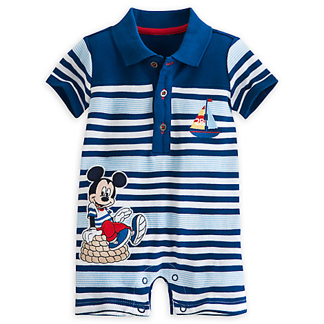 Mickey Mouse Pique Romper for Baby