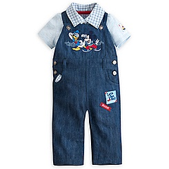 Mickey Mouse and Donald Dungaree Set