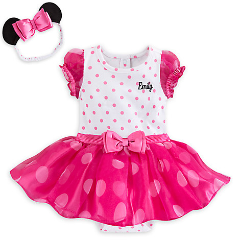 Minnie Mouse Pink Bodysuit Costume Set for Baby - Personalizable