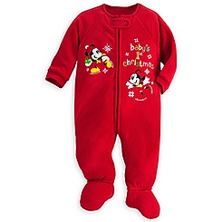 Mickey and Minnie Mouse ''Baby's 1st Christmas'' Blanket Sleeper