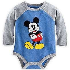 Mickey Mouse Vintage Disney Cuddly Bodysuit for Baby