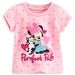 Minnie Mouse and Figaro Tee for Baby