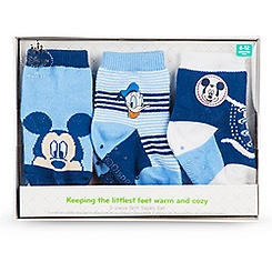 Mickey Mouse and Donald Duck Sock Set for Baby - 3-Pack