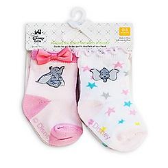 Dumbo Socks for Baby - 2-Pack - Pink