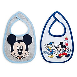 Mickey Mouse and Donald Duck Bib Set for Baby - 2-Pack