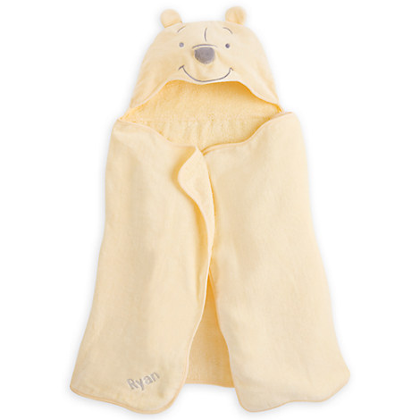 Winnie the Pooh Hooded Towel for Baby - Personalizable