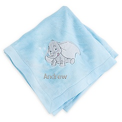 Dumbo Blanket for Baby - Blue - Personalizable