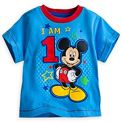 Mickey Mouse ''I Am 1'' Birthday Tee for Boys