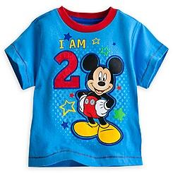 Mickey Mouse ''I Am 2'' Birthday Tee for Boys
