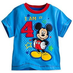 Mickey Mouse ''I Am 4'' Birthday Tee for Boys