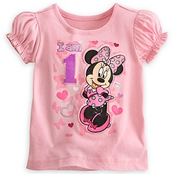 Minnie Mouse ''I Am 1'' Birthday Tee for Girls