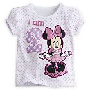 Minnie Mouse ''I Am 2'' Birthday Tee for Girls - Polka Dot