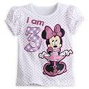 Minnie Mouse ''I Am 3'' Birthday Tee for Girls - Polka Dot