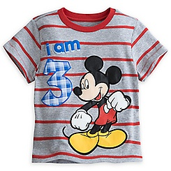 Mickey Mouse ''I Am 3'' Birthday Tee for Boys