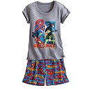 Marvel Super Heroines Short Sleep Set for Women