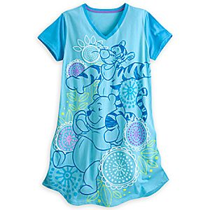 Winnie the Pooh and Tigger Nightshirt for Women