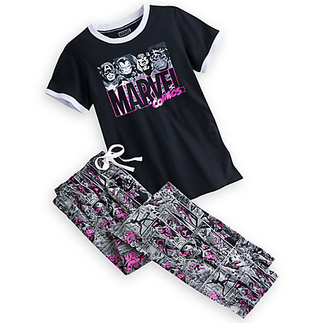 Marvel Comics Sleep Set for Women