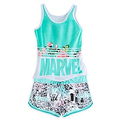 Marvel Comics Floral Sleep Set for Women