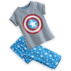 Captain America Sleep Set for Girls