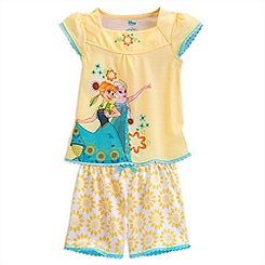 Anna and Elsa Short Sleep Set for Girls