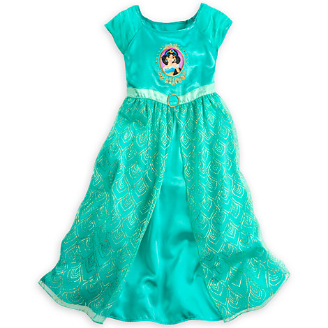 Jasmine nightgown for girls nightgowns disney store - Robe jasmine disney ...