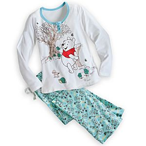 Winnie the Pooh Pajama Set for Women - Holiday