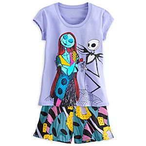 Nightmare Before Christmas Pajama Short Set for Women