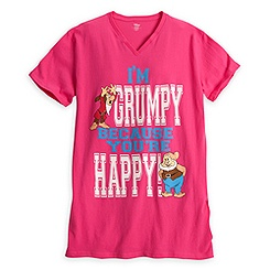 Grumpy and Happy Nightshirt for Women - Seven Dwarfs