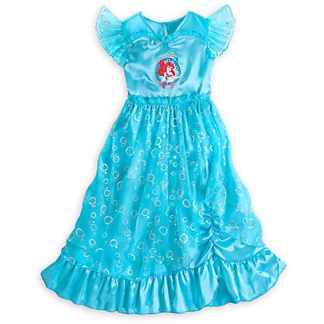 Deluxe Ariel Bubble Night Gown Little Mermaid Girls 2 10