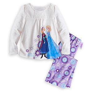 Anna and Elsa Sleepwear Set for Girls - Frozen