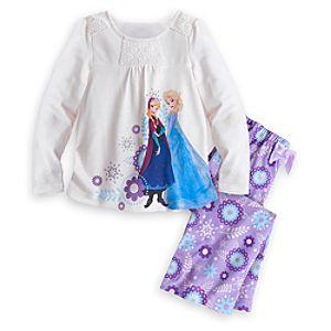 Anna and Elsa Sleepwear Set for Girls - Frozen