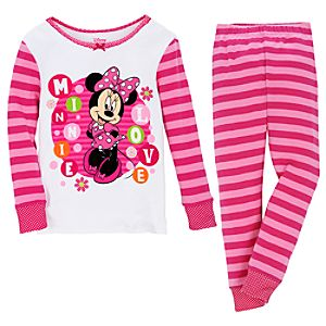 Striped Minnie Mouse PJ Pal