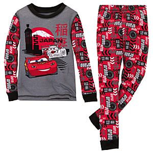 Shu Todoroki and Lightning McQueen Cars 2 PJ Pal for Boys